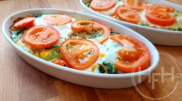 Groenten omelet uit de oven - Clean Eating, Glutenvrij, Keto, Lactosevrij, Notenvrij, Paleo