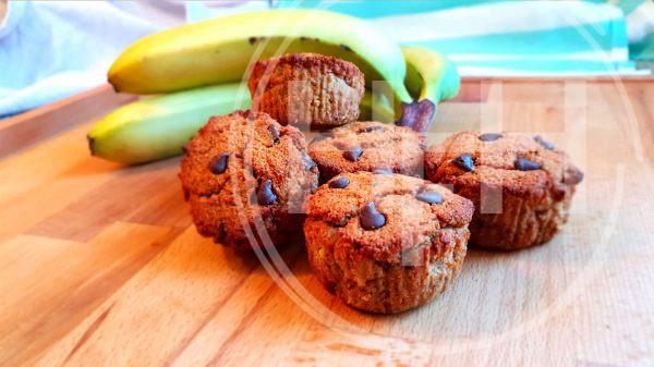 Bananen cupcakes - Clean Eating, Glutenvrij, Lactosevrij, Notenvrij, Paleo