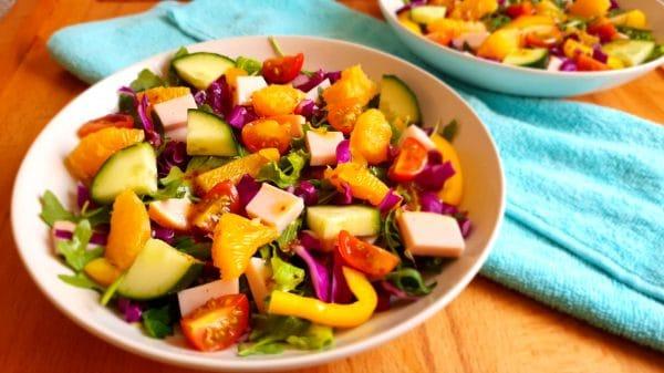 Vrolijke rode kool salade - Clean eating, Glutenvrij, Lactosevrij, Paleo