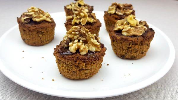 Wortel cupcakes - Clean eating, Glutenvrij, Lactosevrij, Vrij van geraffineerde suikers