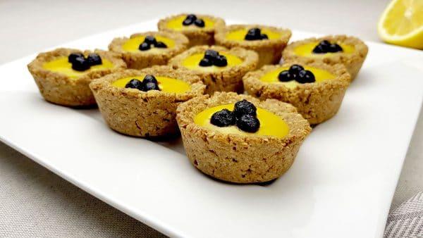 Frisse citroen cupjes - Clean eating, Glutenvrij, Lactosevrij, Notenvrij, Vrij van geraffineerde suikers