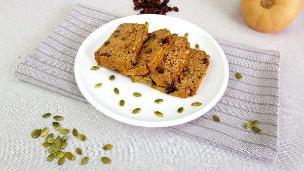 Pompoenbrood - Clean eating, Glutenvrij, Lactosevrij, Notenvrij