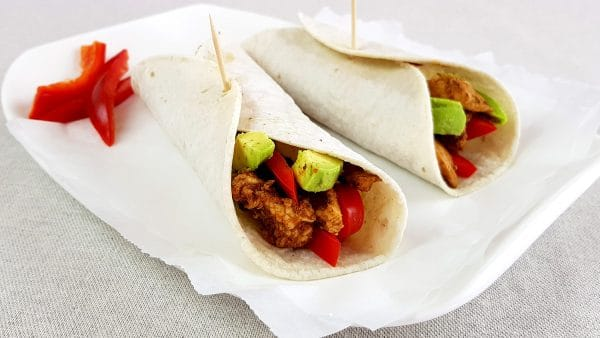 Kip avocado wraps - Clean eating, Glutenvrij