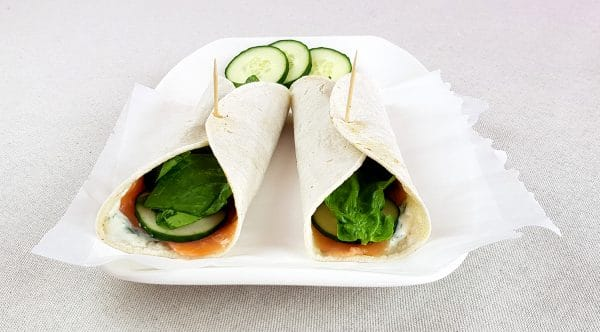 Zalm spinazie wraps - Clean eating, Glutenvrij, Lactosevrij