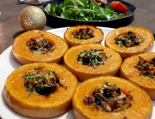 Kerst bijgerecht: gevulde pompoen - Clean Eating, Glutenvrij, Lactosevrij, Vegetarisch